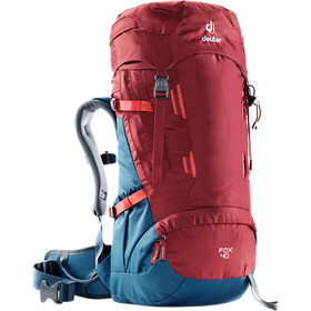 Deuter Fox 40 Selkäreppu Lapset, cranberry-steel